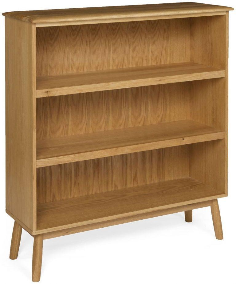 Malmo Scandi Style Oak Wide Bookcase