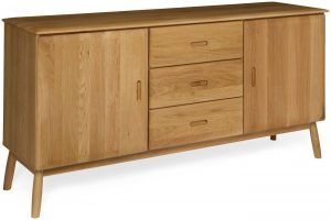 Malmo Scandi Style Oak 2 Door, 3 Drawer Sideboard