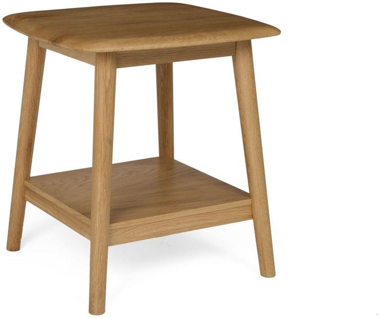 Malmo Scandi Style Oak Lamp Table With Shelf
