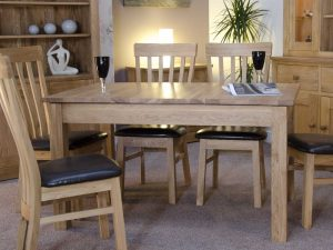 Homestyle Opus Solid Oak 2 Leaf Milano Extending Dining Table