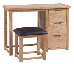 Homestyle Moderna Oak Dressing Table & Stool