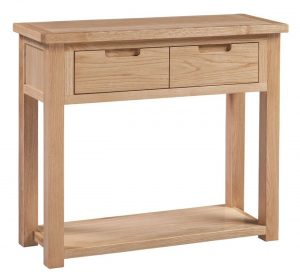 Homestyle Moderna Oak 2 Drawer Console Table