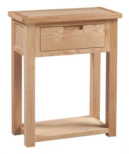 Homestyle Moderna Oak 1 Drawer Console Table