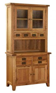 Besp-Oak Vancouver Oak Small Dresser (Complete Unit)