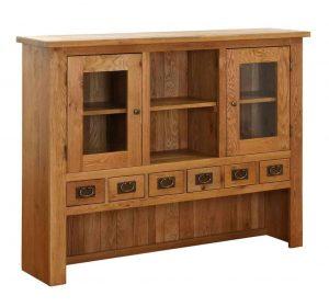 Besp-Oak Vancouver Oak 6 Drawer 2 Door Large Dresser (Top Only) | Fully Assembled