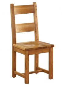 Besp-Oak Vancouver Oak Dining Chair With Timber Seat (Pack of 2) | Fully Assembled