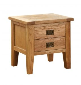 Besp-Oak Vancouver Oak VSP 1 Drawer Lamp Table | Fully Assembled
