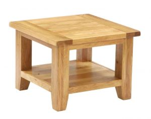 Besp-Oak Vancouver Oak Square Coffee Table | Fully Assembled