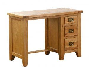 Besp-Oak Vancouver Oak Single Pedestal Computer Desk | Fully Assembled