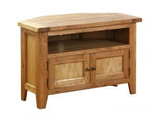 Besp-Oak Vancouver Oak VSP Corner TV Unit | Fully Assembled