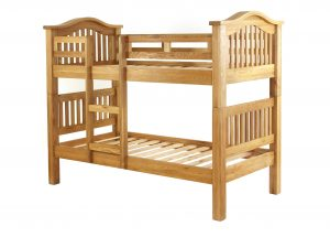 Besp-Oak Vancouver Oak 3′ Single Bunk Bed