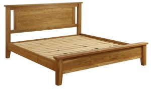 Besp-Oak Vancouver Oak Low End 5′ King Size Bed