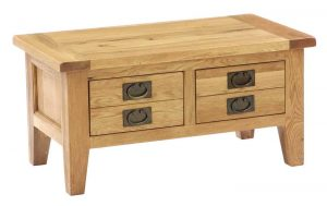 Besp-Oak Vancouver Oak Small 2 Drawer Coffee Table | Fully Assembled