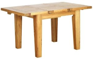Besp-Oak Vancouver Oak VSP 1m -1.4m Extending Dining Table