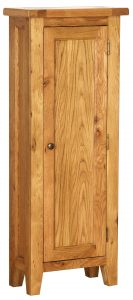 Besp-Oak Vancouver Oak DVD Storage with 1 Drawer   Fully Assembled