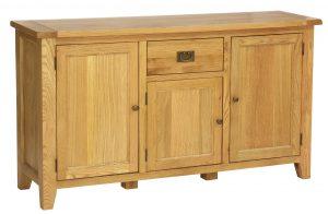 Besp-Oak Vancouver Oak 1 Drawer 3 Door Large Sideboard | Fully Assembled