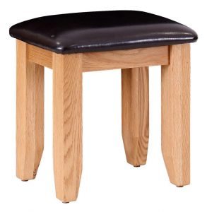 Besp-Oak Vancouver Oak Dressing Table Stool