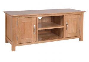 Devonshire New Oak Large 2 Door TV Cabinet | Fully Assembled