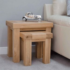 Homestyle Bordeaux Oak Nest of 2 Tables | Fully Assembled