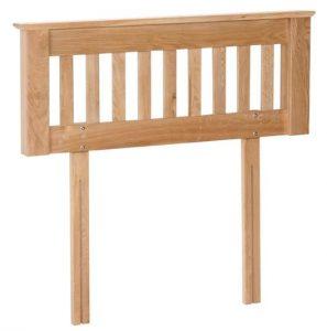 Devonshire New Oak 5′ King Size Bed Headboard