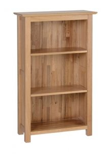 Devonshire New Oak 3ft Slim Bookcase With 3 Shelves  | Fully Assembled