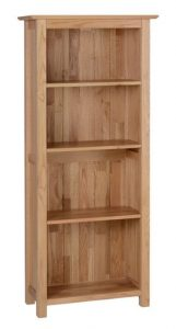 Devonshire New Oak 5ft Slim Bookcase With 4 Shelves | Fully Assembled