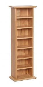 Devonshire New Oak CD Rack | Fully Assembled