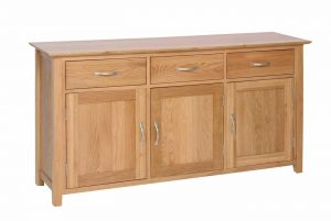 Devonshire New Oak 3 Doors & 3 Drawers Large Sideboard | Fully Assembled
