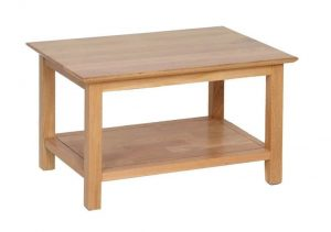 Devonshire New Oak Rectangle Coffee Table with Shelf (74cm) | Fully Assembled
