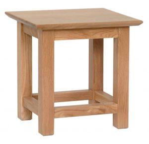 Devonshire New Oak Side Table | Fully Assembled