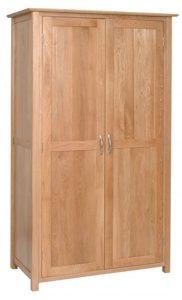 Devonshire New Oak 2 Door Double Ladies All Hanging Wardrobe