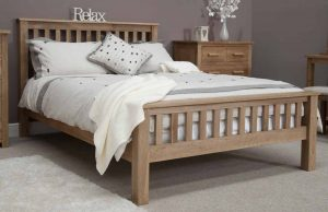 Homestyle Opus Solid Oak 5′ King Size Bed