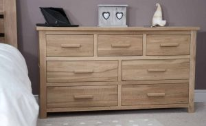 Homestyle Opus Solid Oak 7 Drawer Multi Chest | Fully Assembled