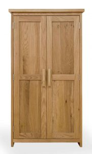 Homestyle Opus Solid Oak 2 Door CD/DVD Storage Cupboard | Fully Assembled