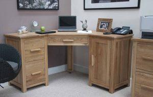 Homestyle Opus Solid Oak Corner Computer Desk