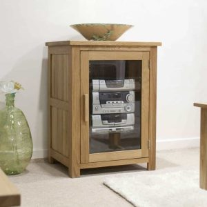 Homestyle Opus Solid Oak Media/Hi-Fi Unit | Fully Assembled