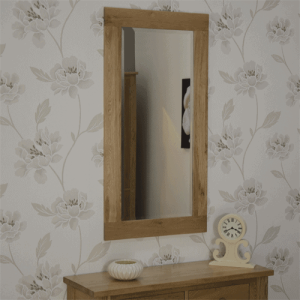Homestyle Opus Solid Oak Large Wall Mirror 115cm x 60cm