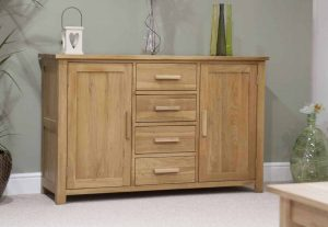 Homestyle Opus Solid Oak 2 Door 3 Drawer Large Sideboard | Fully Assembled