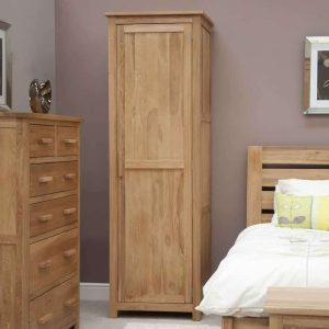 Homestyle Opus Solid Oak Single Wardrobe