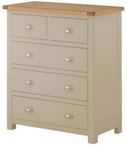 Classic Portland Painted Pebble 2 over 3 Chest