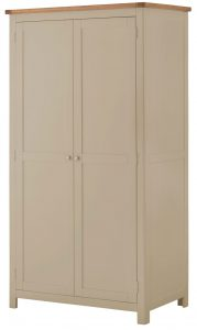 Classic Portland Painted Pebble 2 Door Wardrobe