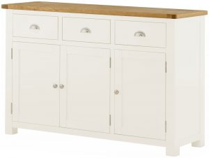 Classic Portland Painted White 3 Door Sideboard