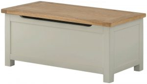 Classic Portland Blanket Box-stone | Fully Assembled