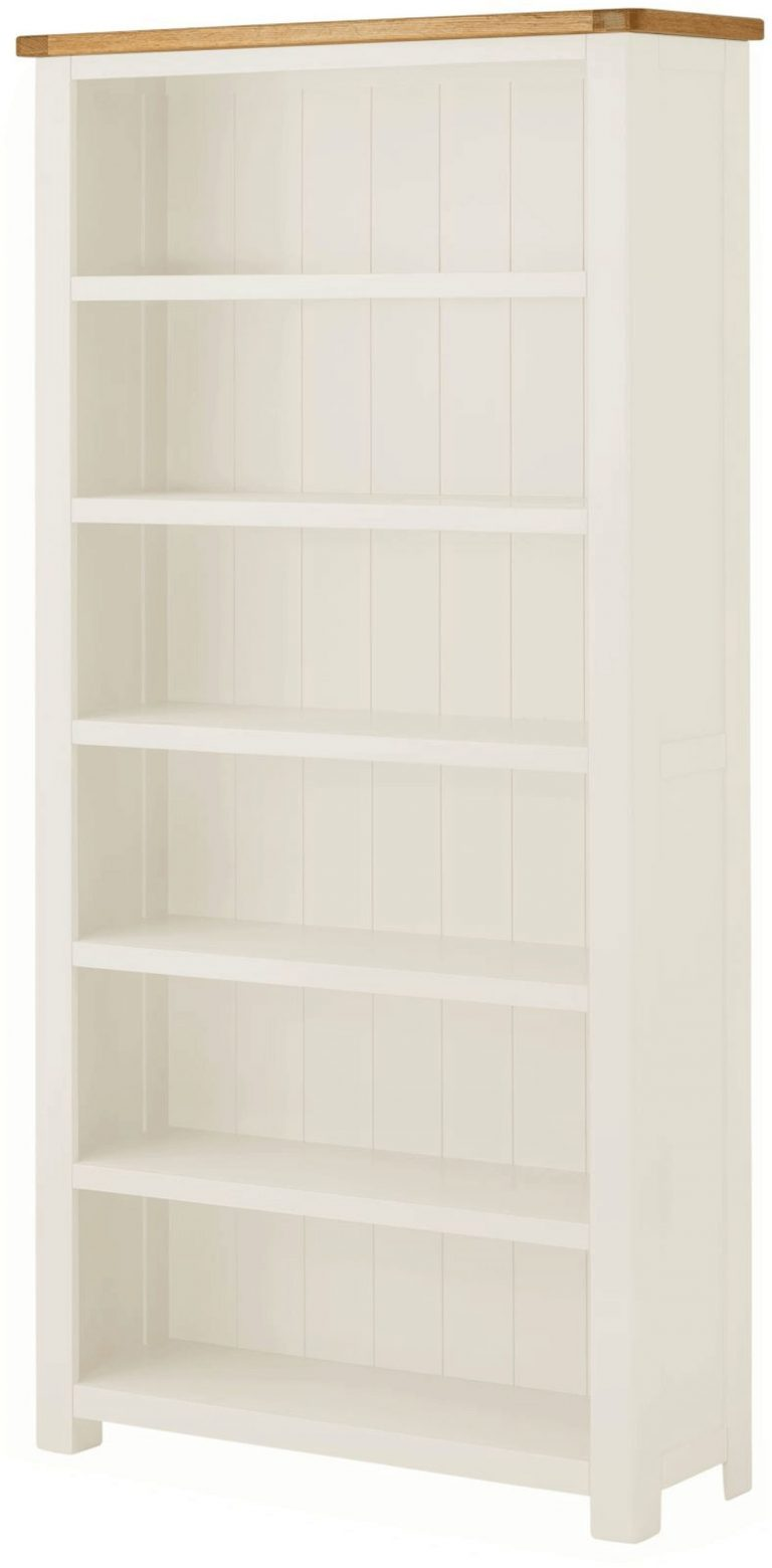 Classic Portland Painted White Large Bookcase