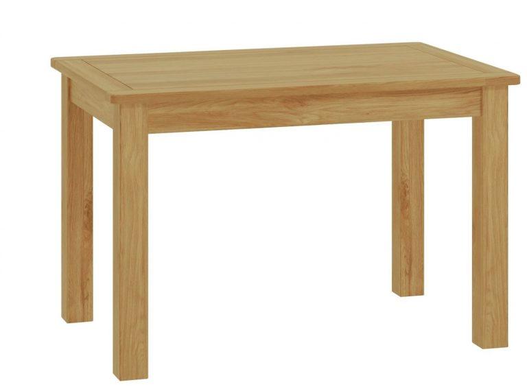 Classic Portland Oak Fixed Dining Table