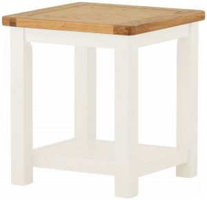 Classic Portland Painted White Lamp Table | Fully Assembled