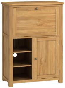 Classic Portland Oak Office Low Bureau – oak