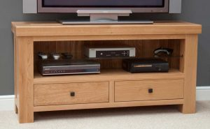 Homestyle Bordeaux Oak 2 Drawer TV Unit | Fully Assembled