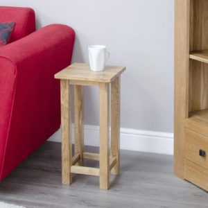 Homestyle Opus Solid Oak Square Occasional Table | Fully Assembled
