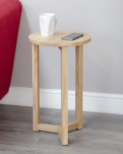 Homestyle Opus Solid Oak Round Occasional Table | Fully Assembled